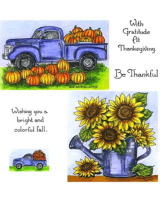 Pumpkin Truck & Sunflower - NO-061