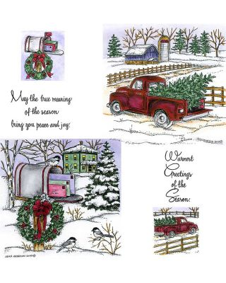 Old Fashioned Truck & Wreath Mailbox - NO-076