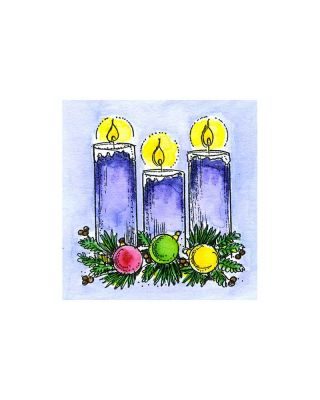 Small Candles and Ornaments - C10829
