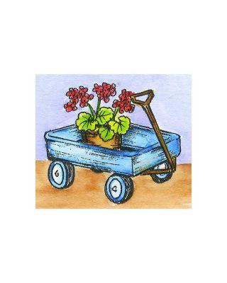 Small Geranium Wagon - C10764