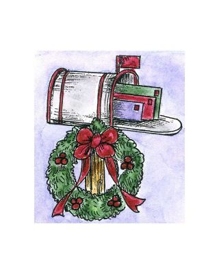 Small Wreath and Mailbox - C01709