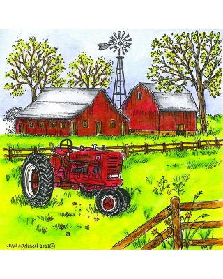 Spring Farm and Tractor - PP10942