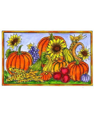 Sunflowers, Gourds and Pumpkins - NN10490