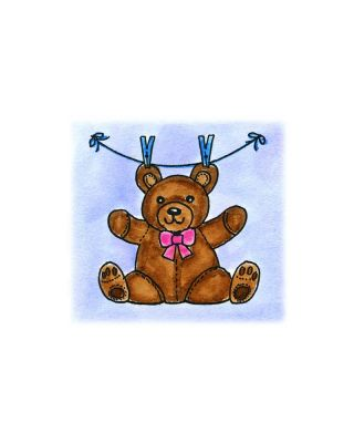 Teddy Bear With Clothespins - C10427