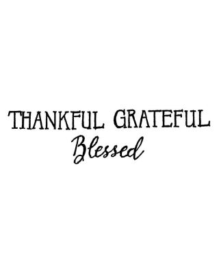 Thankful Grateful Blessed - D10485
