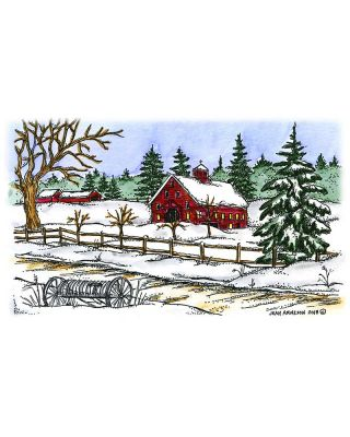 Winter Shed, Spruce and Road - NN10560