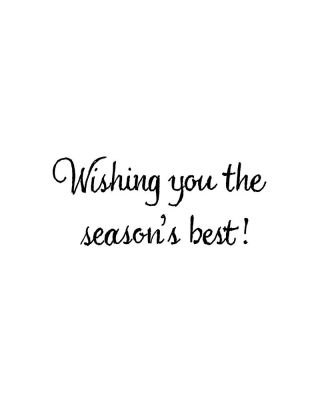 Wishing You The Season's Best - CC10863