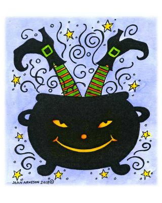 Witch's Legs in Cauldron - M10475