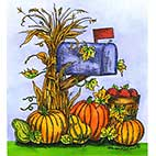 Wood Mounted Stamps: Fall - Autumn