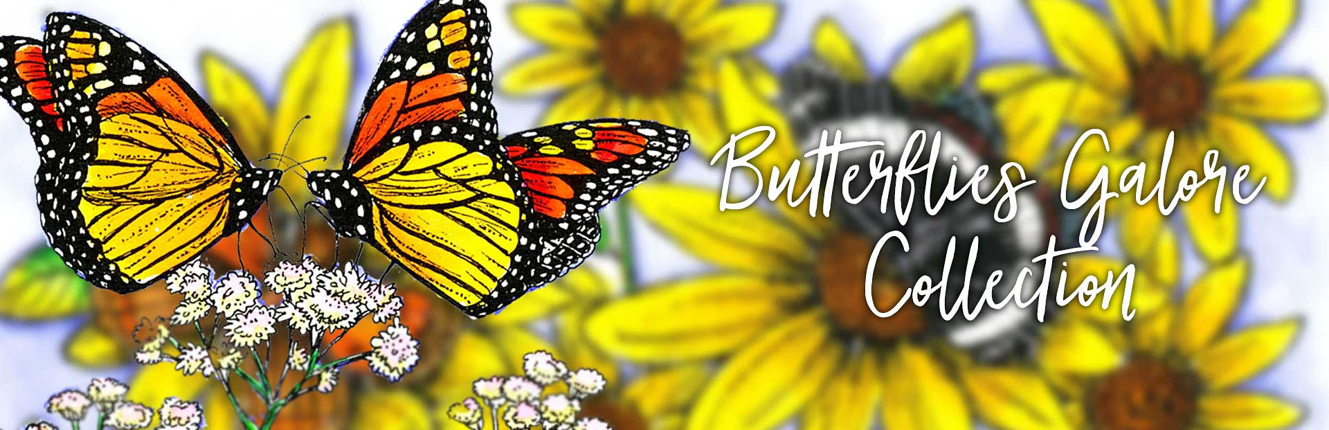 New Stamps from Northwoods Rubber Stamps - Butterflies Galore
